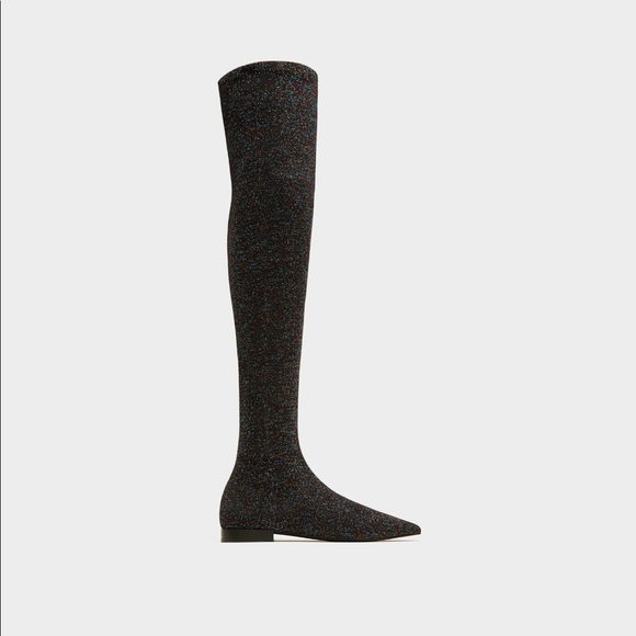 Nwt Glitter Over The Knee Tall Boots